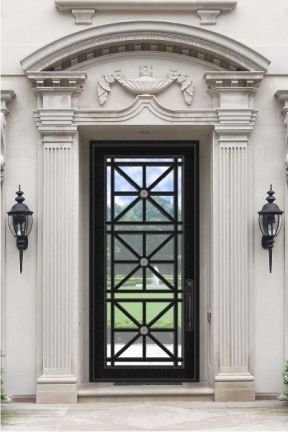 Modern Doors Custom Steel Glass Doors For Luxury Homes Iron Doors Wrought Iron Front Door Aluminium Door Design
