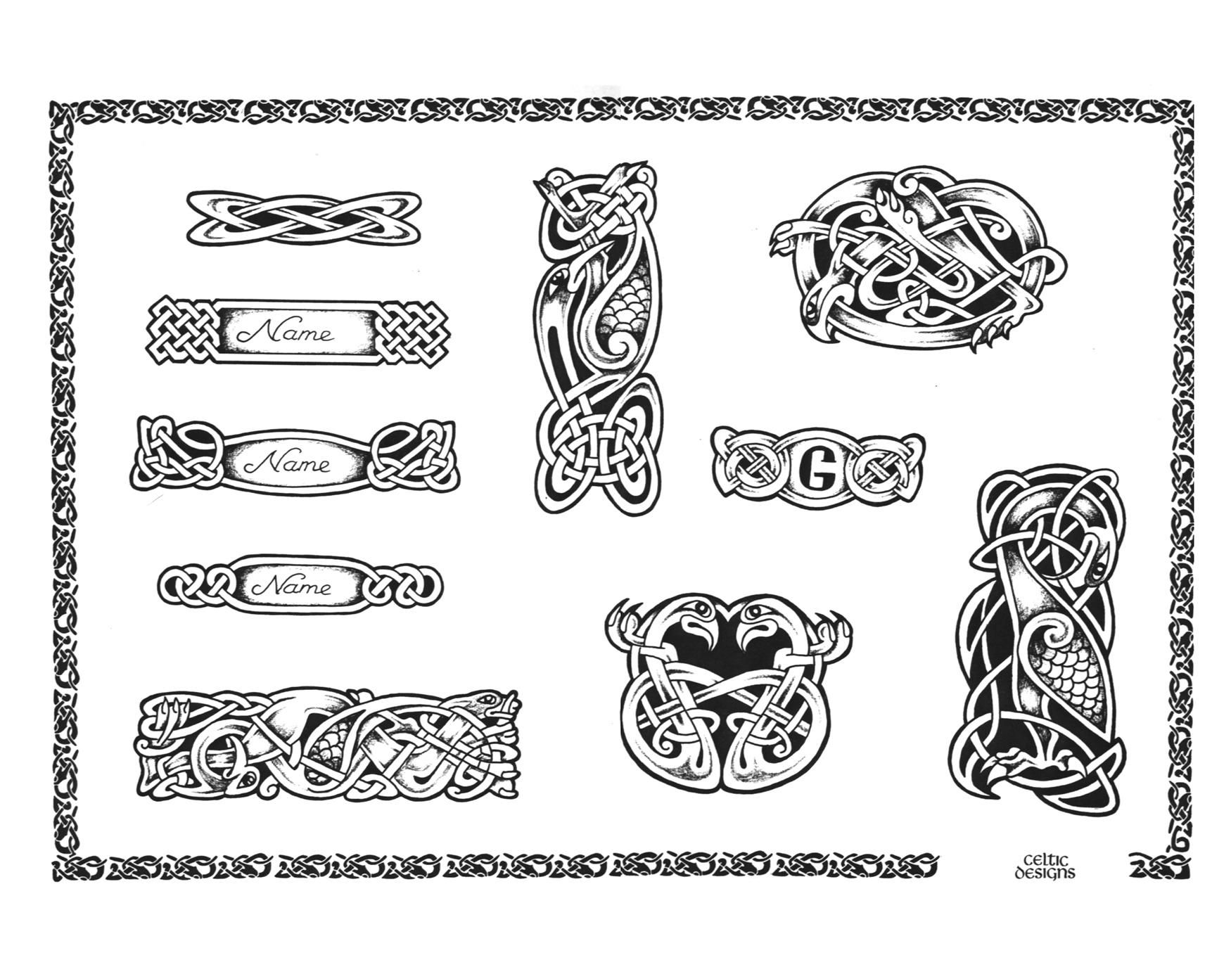 Celtic Name Plates Celtic Knot Tattoo Celtic Tattoo Knot Tattoo