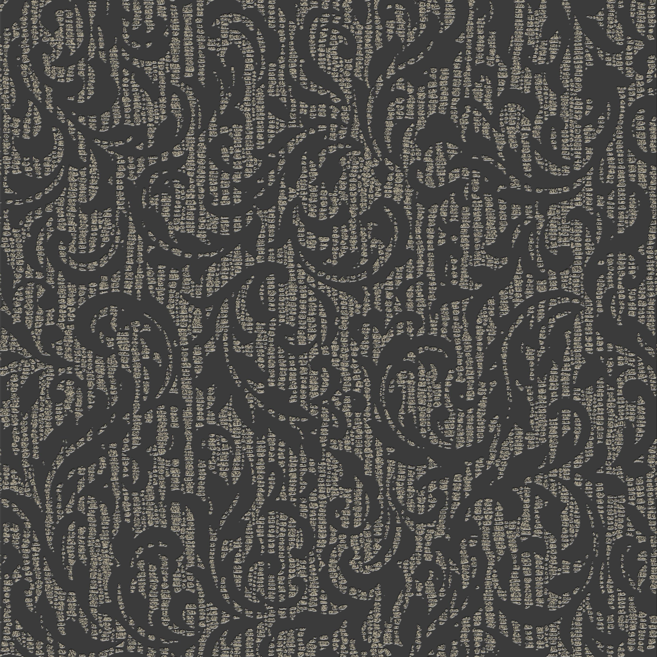 Graham & Brown Boutique Charcoal & Champagne Cashmere Metallic