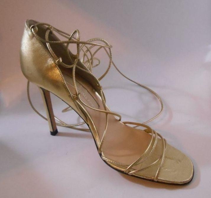 366 de oro abierto Gladiador Michael Kors Correa en el Tobillo Lazo  Tacones Talla 6 Zapatos 9fab9a55ee658