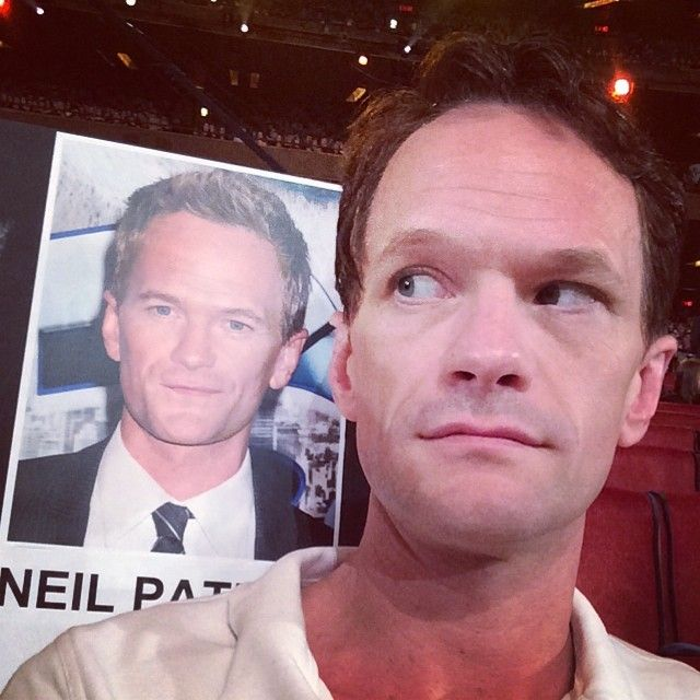 NPH, here. Found my seat at the #TonyAwards dress rehearsal. Is that an angel or a devil on my shoulder..?