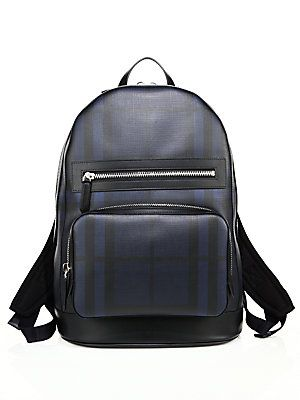 Burberry Signature Plaid Backpack - Navy