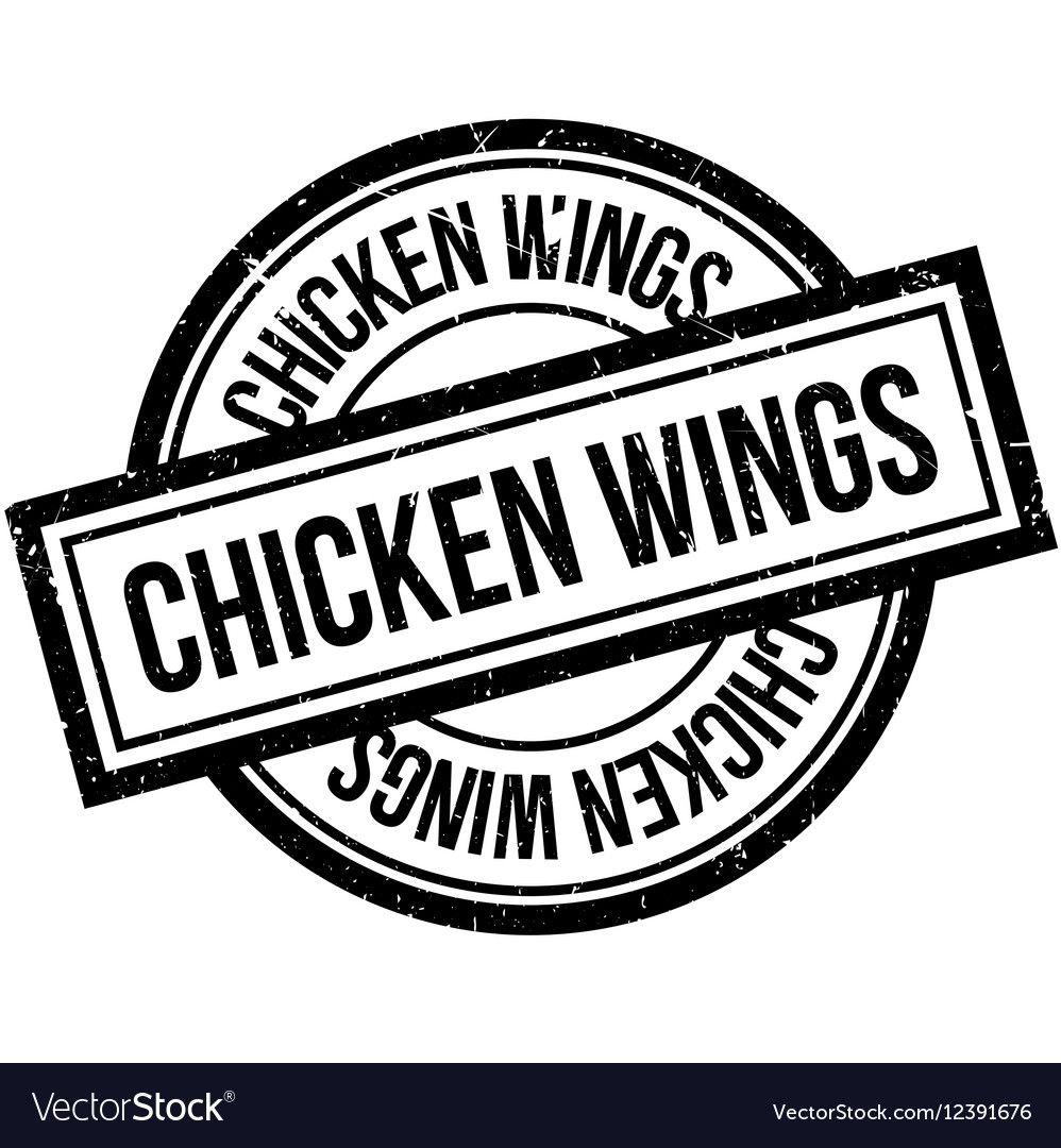 Chicken Wings rubber stamp vector image on Alitas de