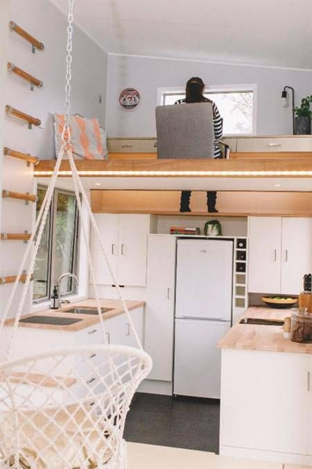 Spot the retractable stair in this brilliant tiny house (Video ...