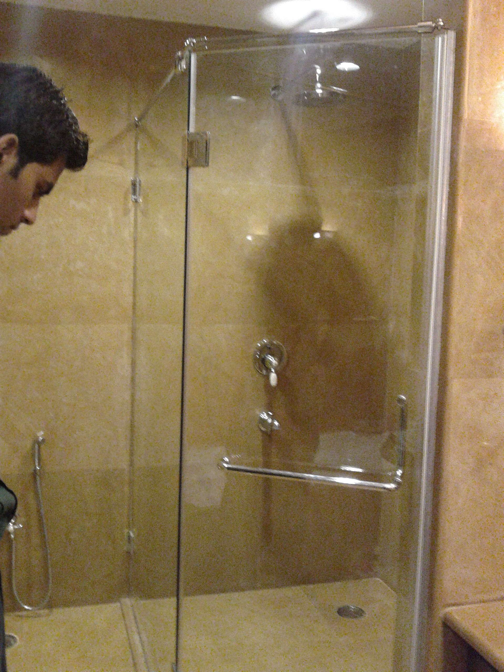 Fitting a shower door - Dorma Shower Cubicle Fitting 100 Brass