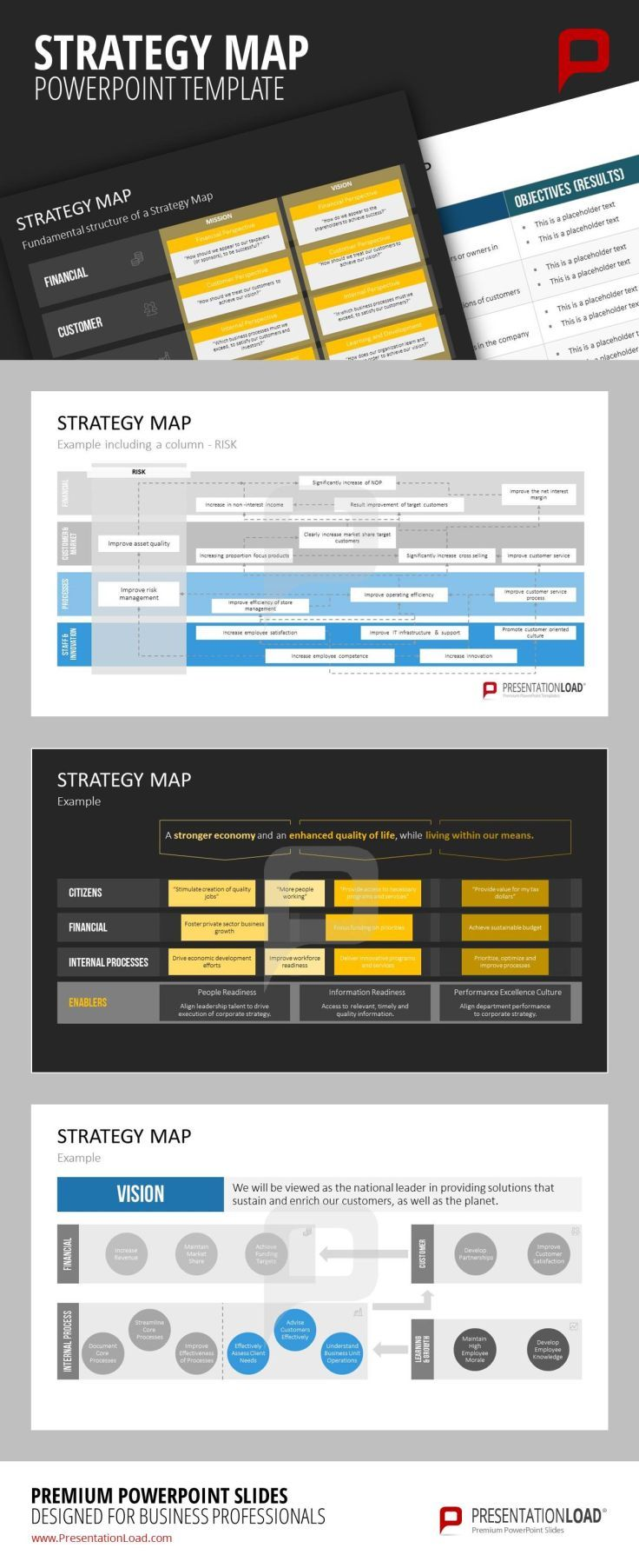 Professional support from strategy map examples and templates for professional support from strategy map examples and templates for powerpoint to create succeeding business plans alramifo Choice Image