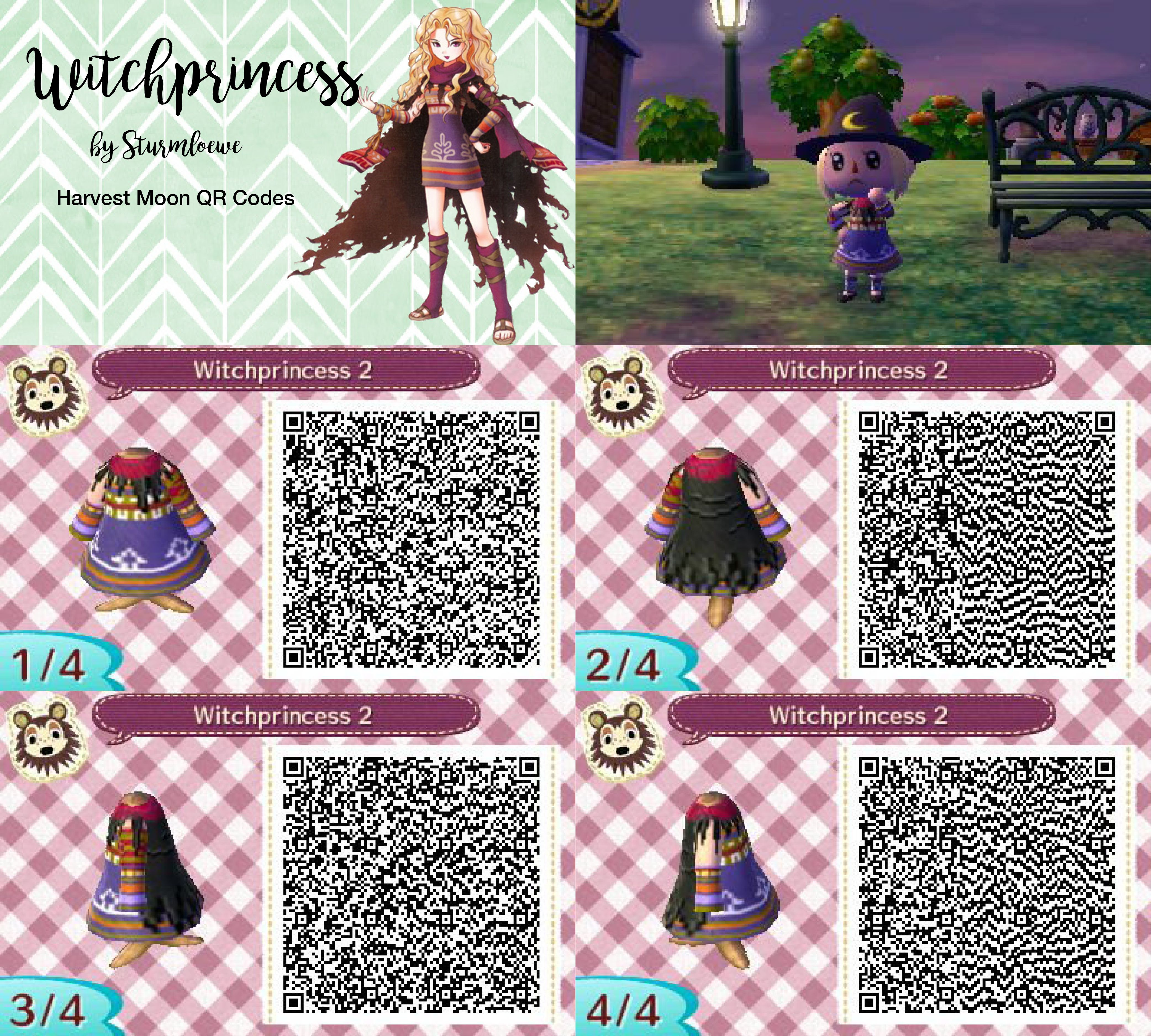 Harvest Moon Witchprincess Dress For Animal Crossing New Leaf