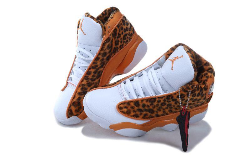 88698ba9608e Retro Jordans- 2013 New Kids Air Jordan Retro 13 XIII Leopard Shoes Orange  White -Outlet For Sale - Kids Air Jordan Retro 13 XIII Shoes