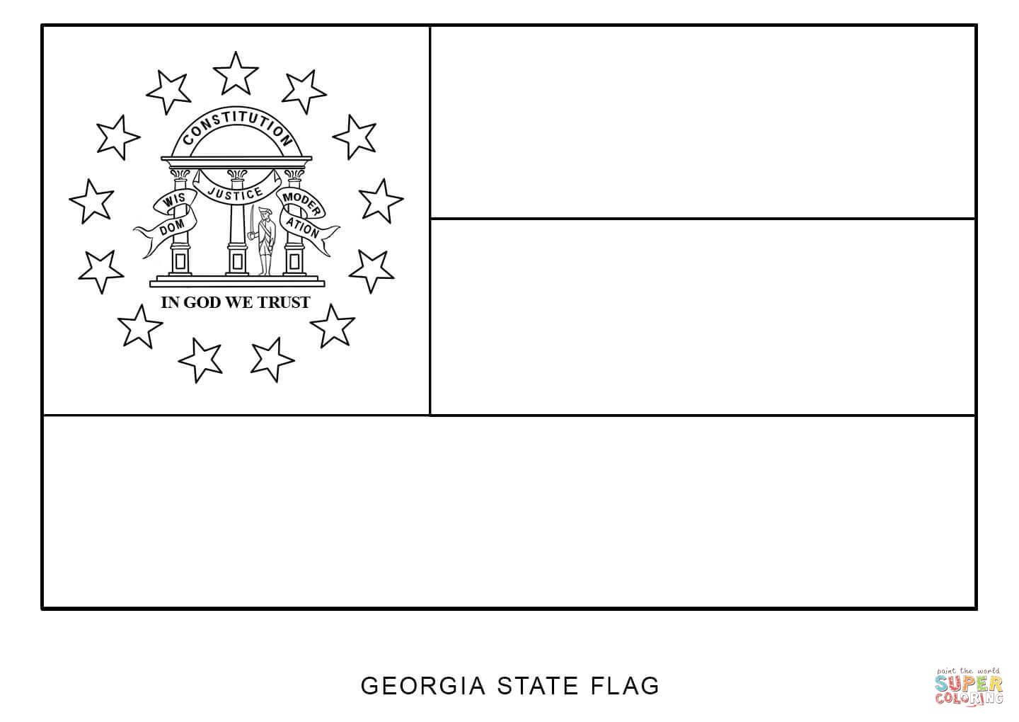 State Flag Of Georgia Coloring Page From Georgia Category Select