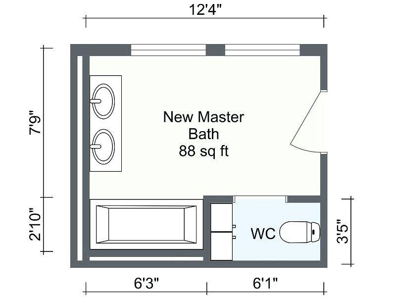 House Plan Layout Design Floor Plans Master Bath