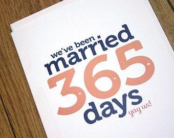 First Wedding Anniversary Card Paper