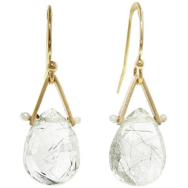 Lulu Designs Green Tourmaline Quartz Birch Earrings 114 Liked On Polyvore