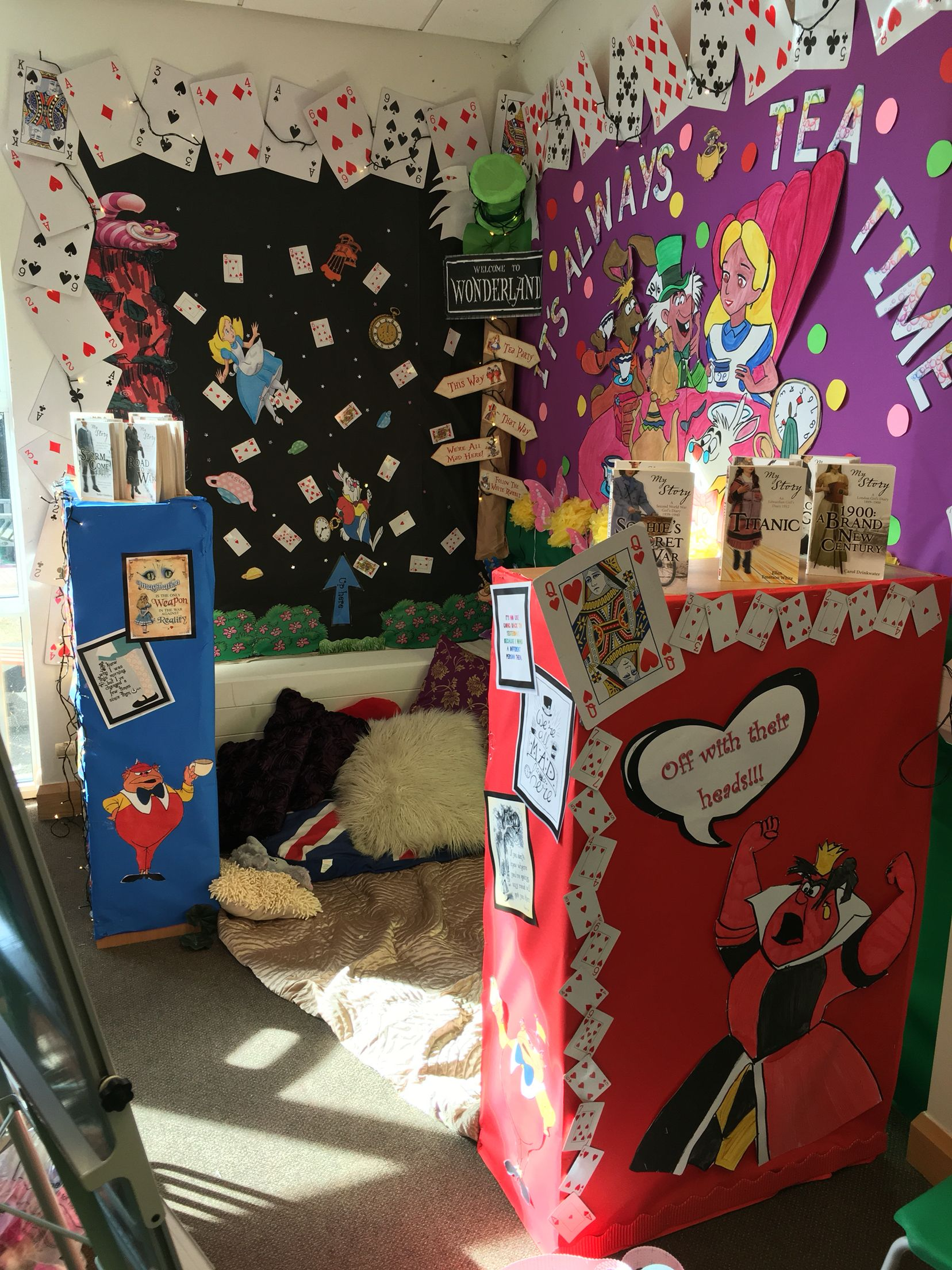 Alice In Wonderland Book Week Ideas : Alice in wonderland reading corner teacher stuff