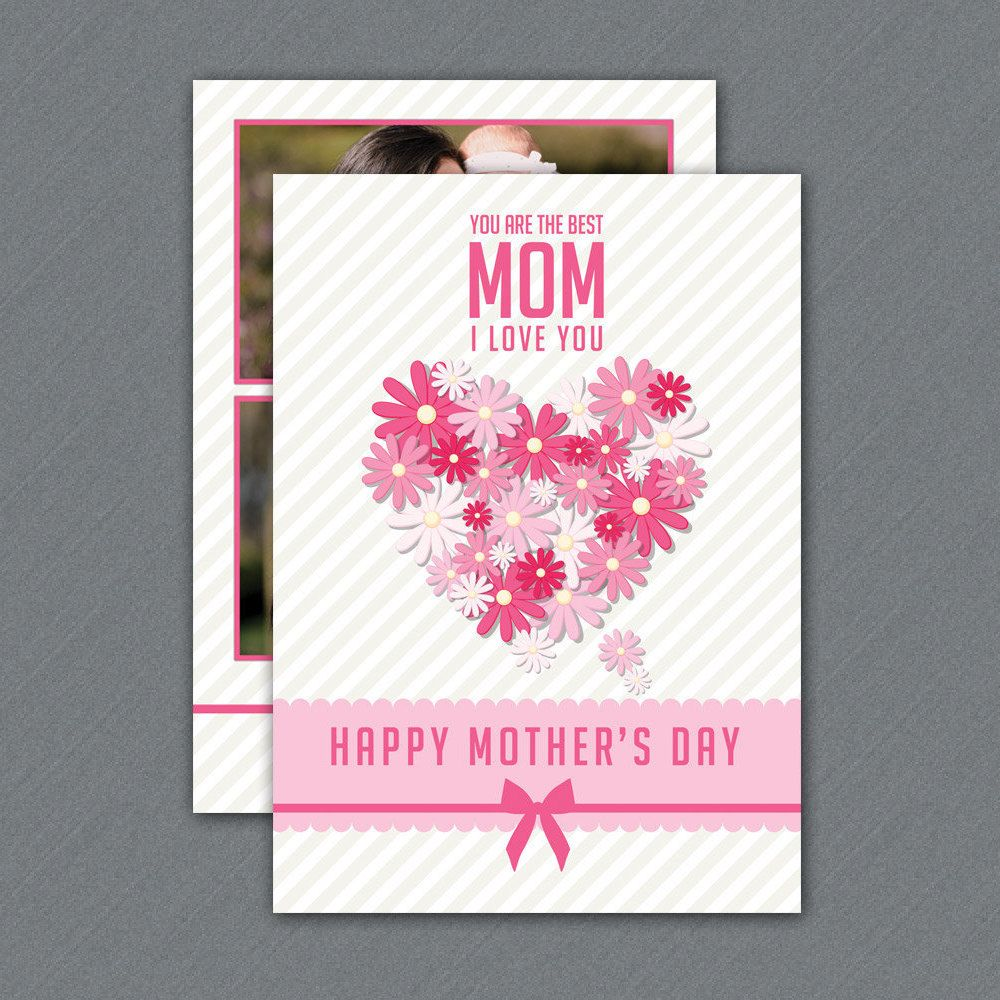 Printable Mothers Day Card Template Mother S Day Greeting Card Ms Word Photoshop Mothers Day Card Template Mother S Day Greeting Cards Mothers Day Cards