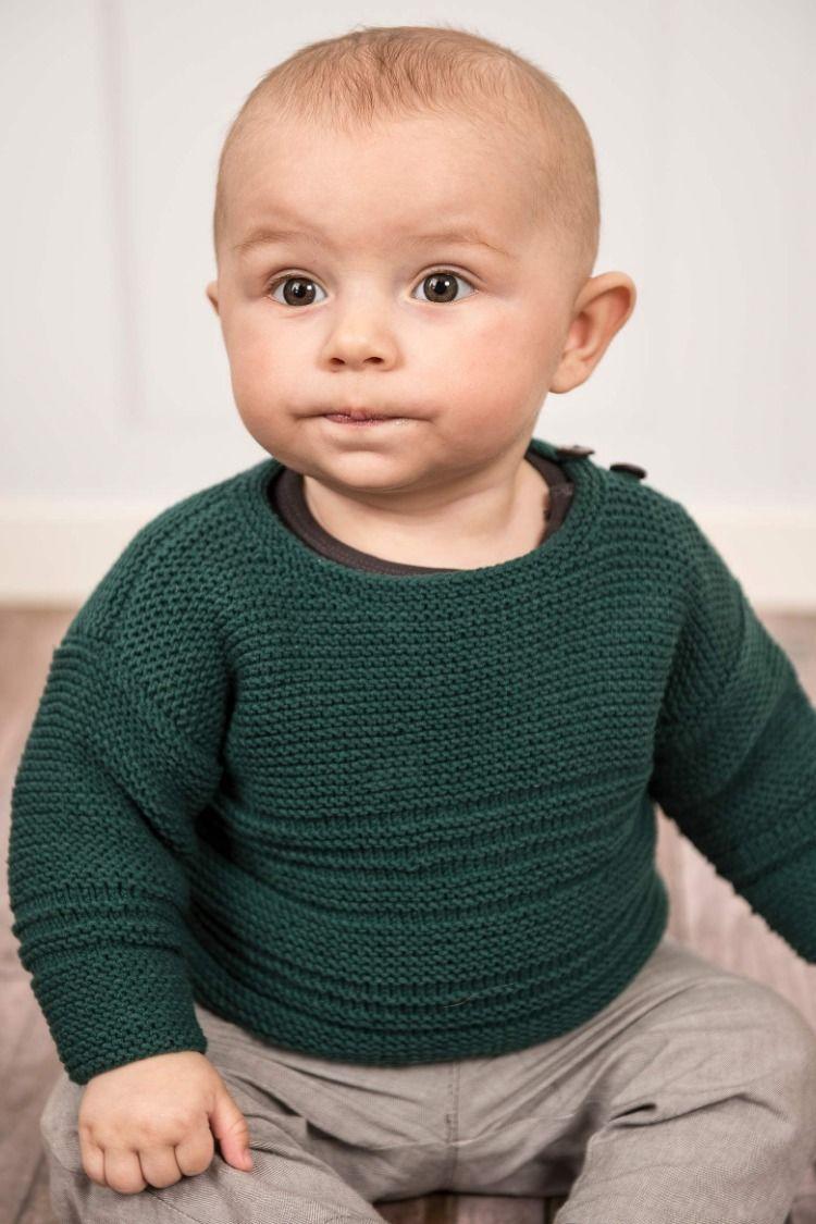 Opskrift 134-4: Klassisk babytrøje #gratisstrikkeopskrifter