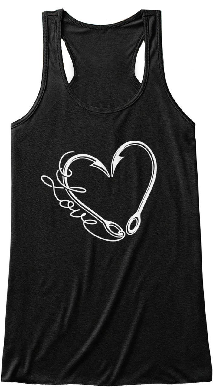 44addbbf1c0d38 Southern Sisters Designs - New Love Fishin Word and Hooks Tank Top