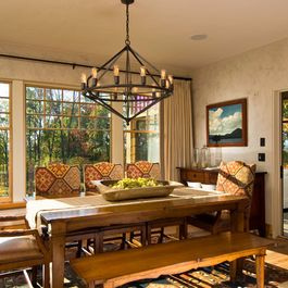 Southwestern Style Design Ideas Pictures Remodel And Decor Cottage Dining Rooms Dining Room Cozy Rustic Dining Room