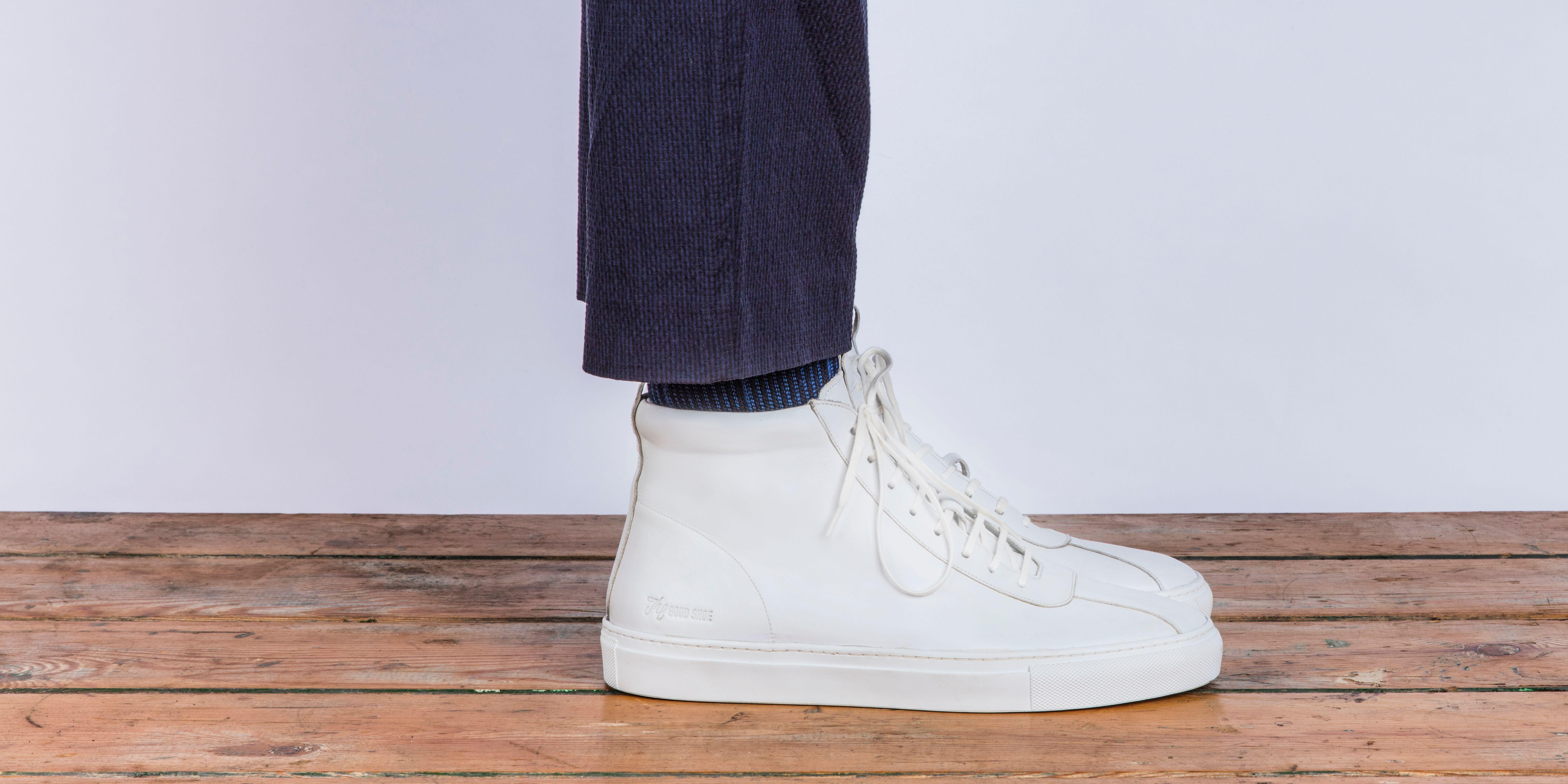 Sneaker 6 in White Calf   Sneakers, Top