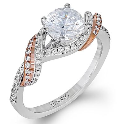 Simon G Fabled Collection 18K White and Rose Gold 031ctw