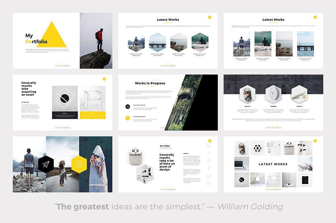 Phlox Minimal Powerpoint Template Presentation Pinterest