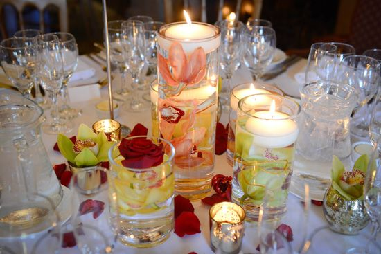 Floating candle table decorations - Emma Lappin Flowers & Floating candle table decorations - Emma Lappin Flowers | Candles ...