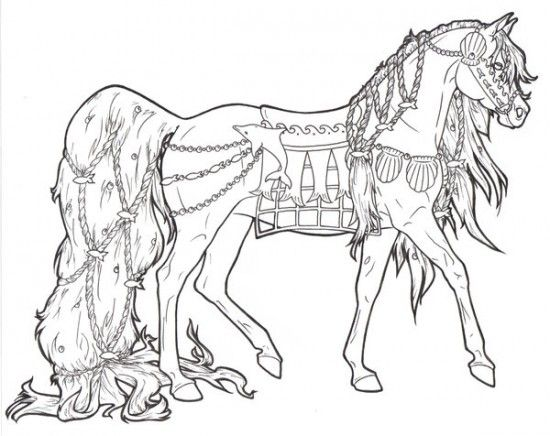 Horse Coloring Pages Picture 1