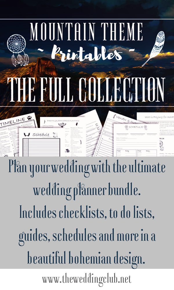 The ultimate printable wedding planner bundle, with more than 110 ...