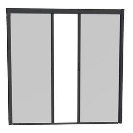 Larson Black Retractable Screen Door Actual 96 In X 91 In