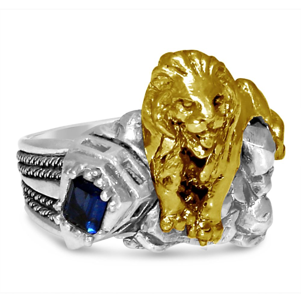 New York 42 Street 10 Karat Gold Lion Sterling Silver Ring Men S Vinta Sterling Silver Jewelry Handmade Sterling Silver Pinky Ring Sterling Silver Mens Rings