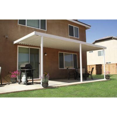 Lovely Four Seasons Building Products 20 Ft. X 12 Ft. White Aluminum Attached  Solid Patio Cover With 4 Posts (10 Lbs. Live Load)