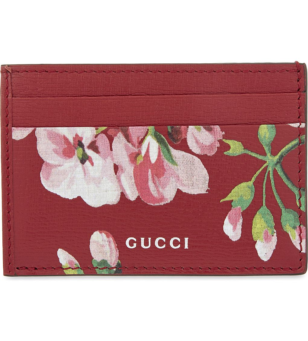 b9b580f0390879 Floral print leather card holder 175 Pounds | So Stylish | Gucci ...