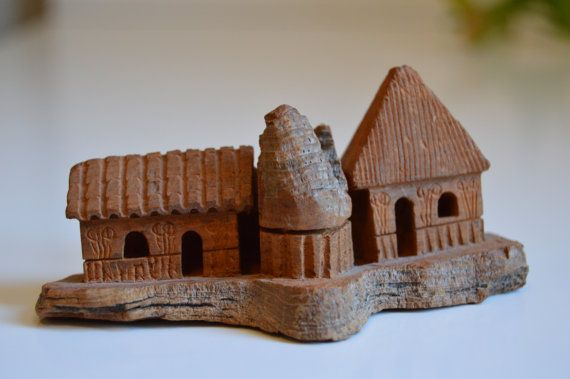 This Little House Of Mine  Hand Carved Whismical by VintageCaper