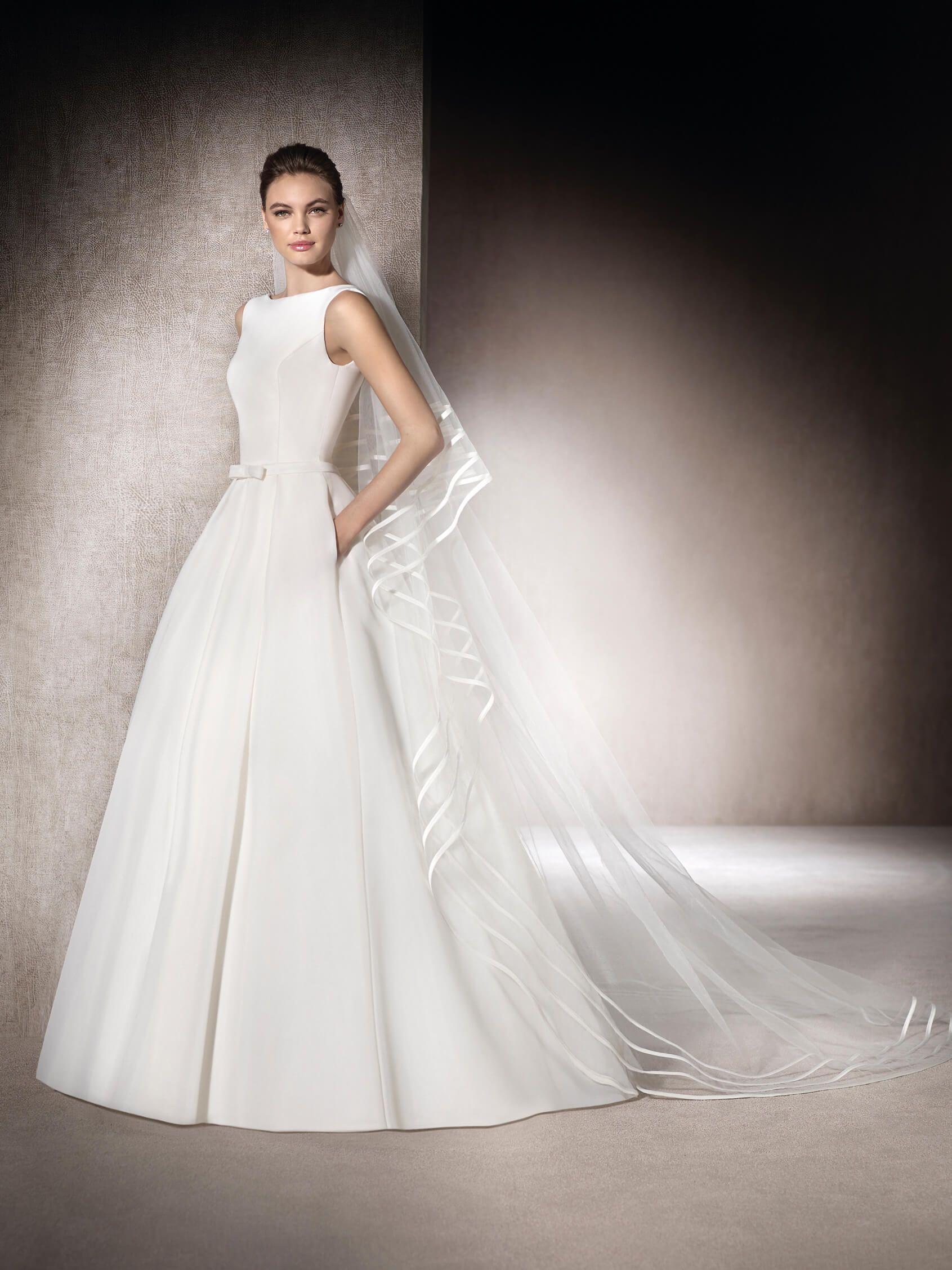 Merced wedding dress in garza with bateau neckline st patrick merced wedding dress in garza with bateau neckline st patrick ombrellifo Images