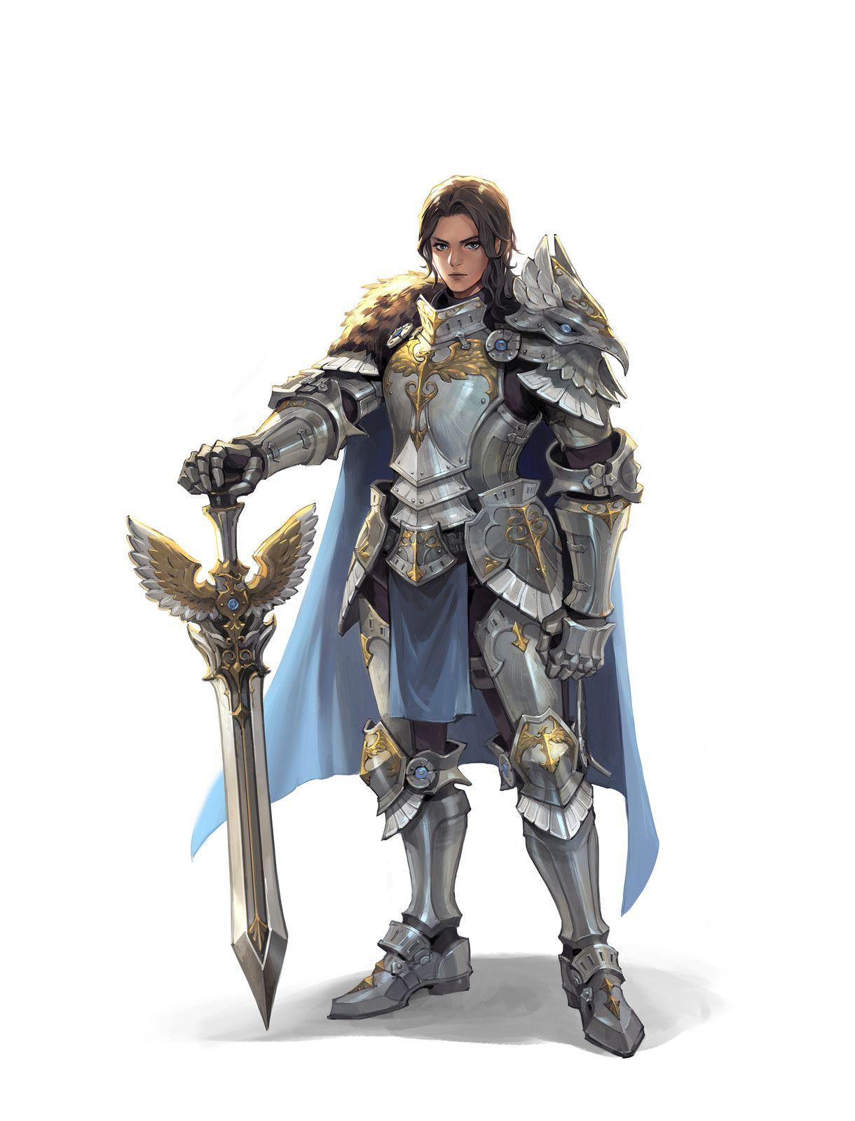 160217 Hawk Armor Sora Kim Female Knight Fantasy Armor Armor Concept