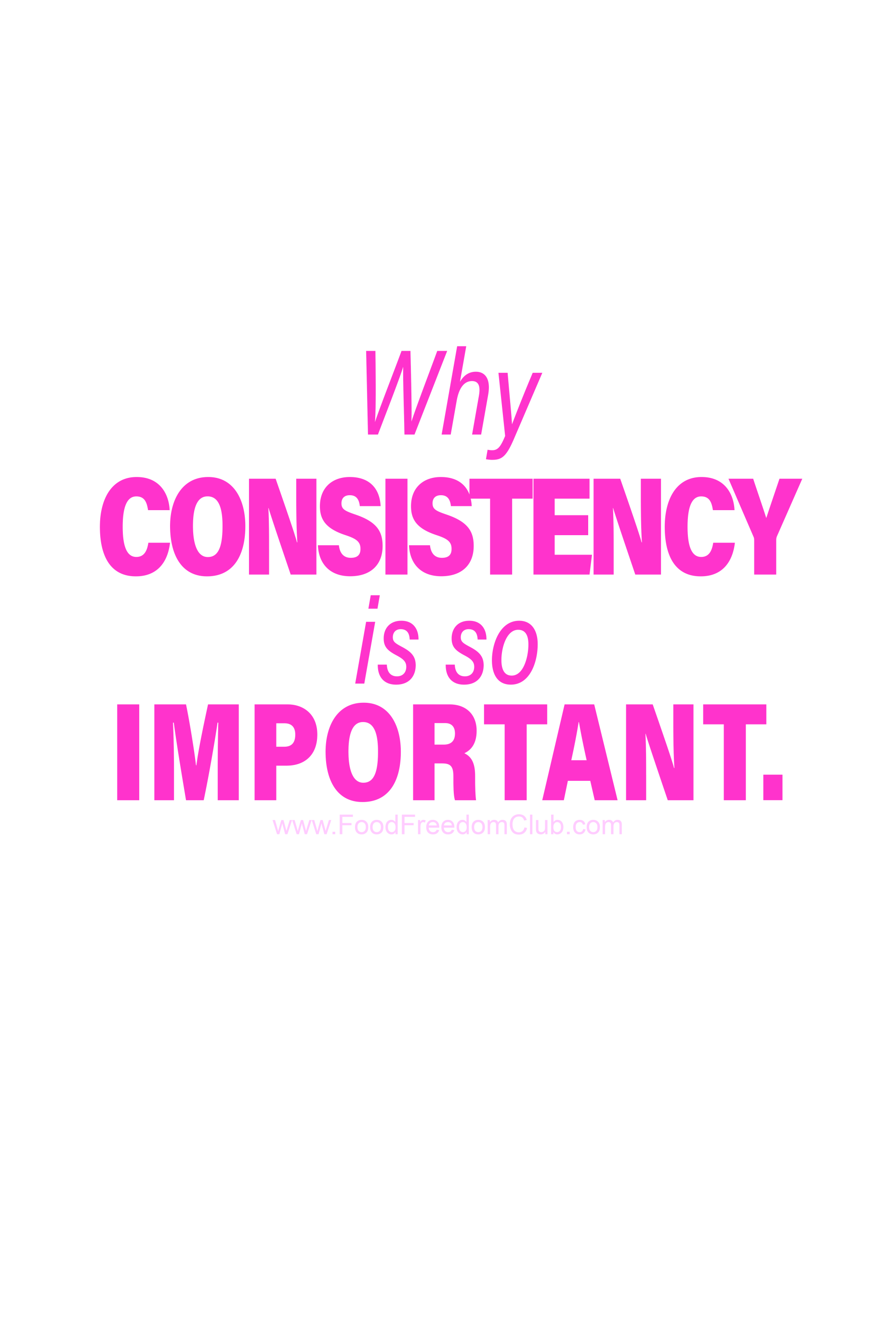Why Consistency Is So Important Food Freedom Club Inspirational Quotes Encouragement Quotes Encouragement