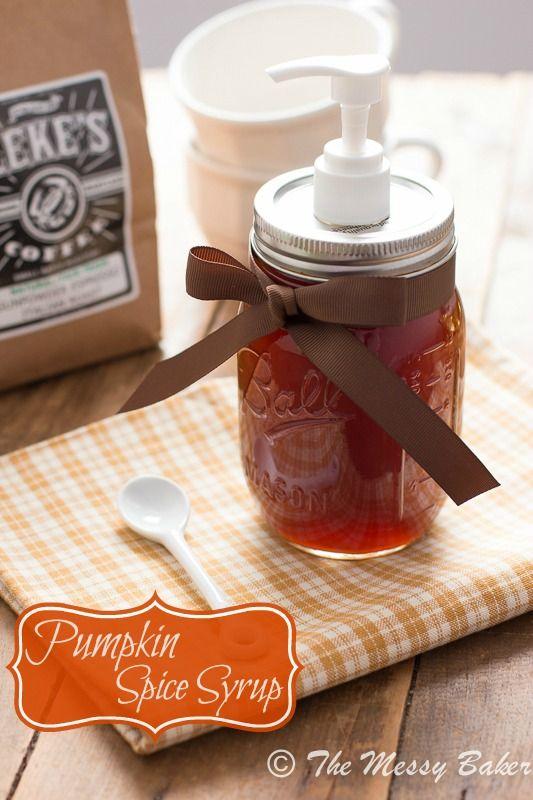 Pumpkin Spice Syrup Recept Siroop Drankjes En Eten