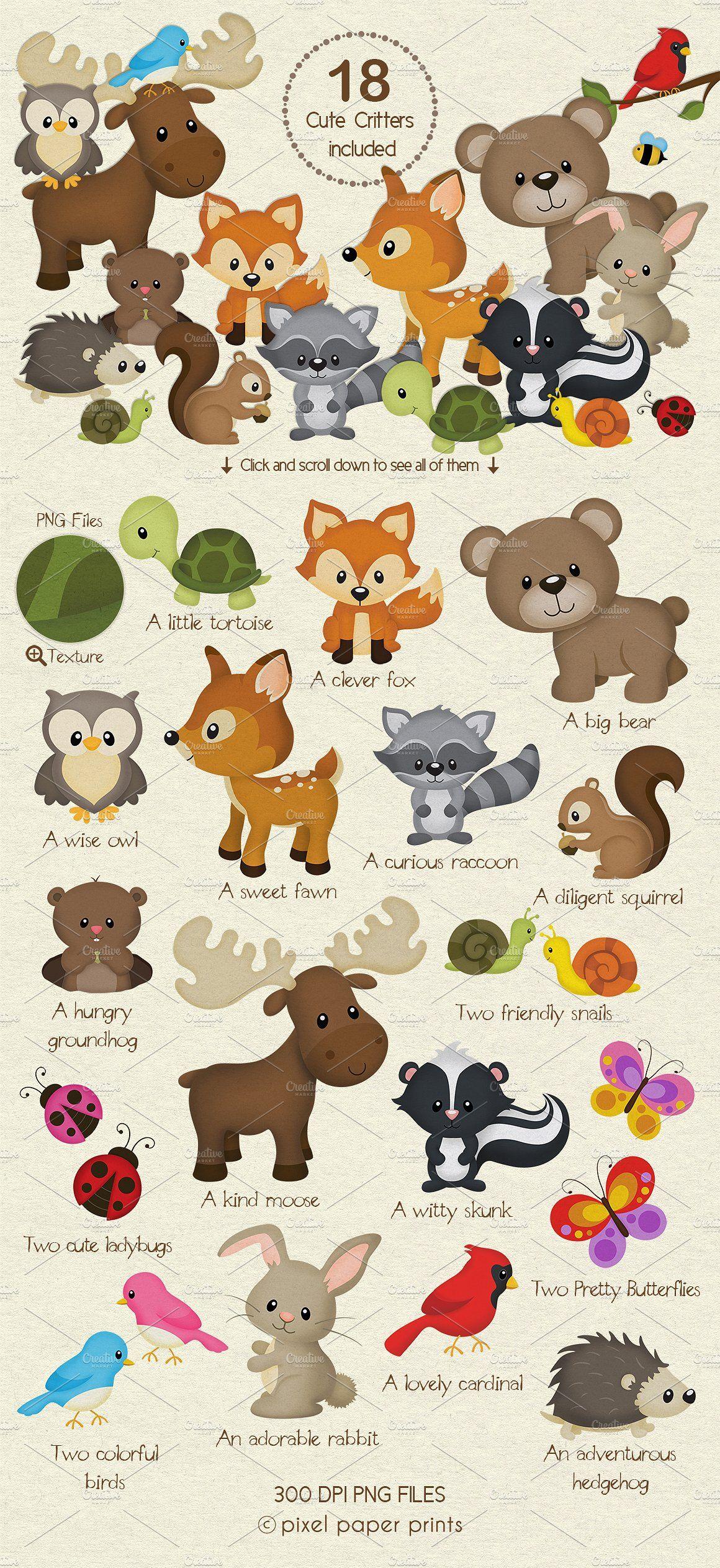 Woodland Animals Design Kit Stuffed Animal Patterns Woodland Animals Woodland Animals Theme