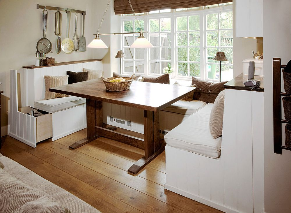 built in dining booths for kitchens