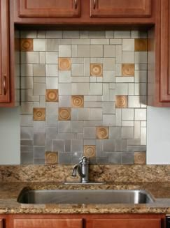 kitchen backsplash ideas kitchen backsplashes and kitchen backsplash ideas from quickshipmetals - Kitchen Metal Backsplash