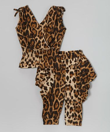 fa2edd922 Look what I found on  zulily! Black   Brown Leopard Top   Harem ...