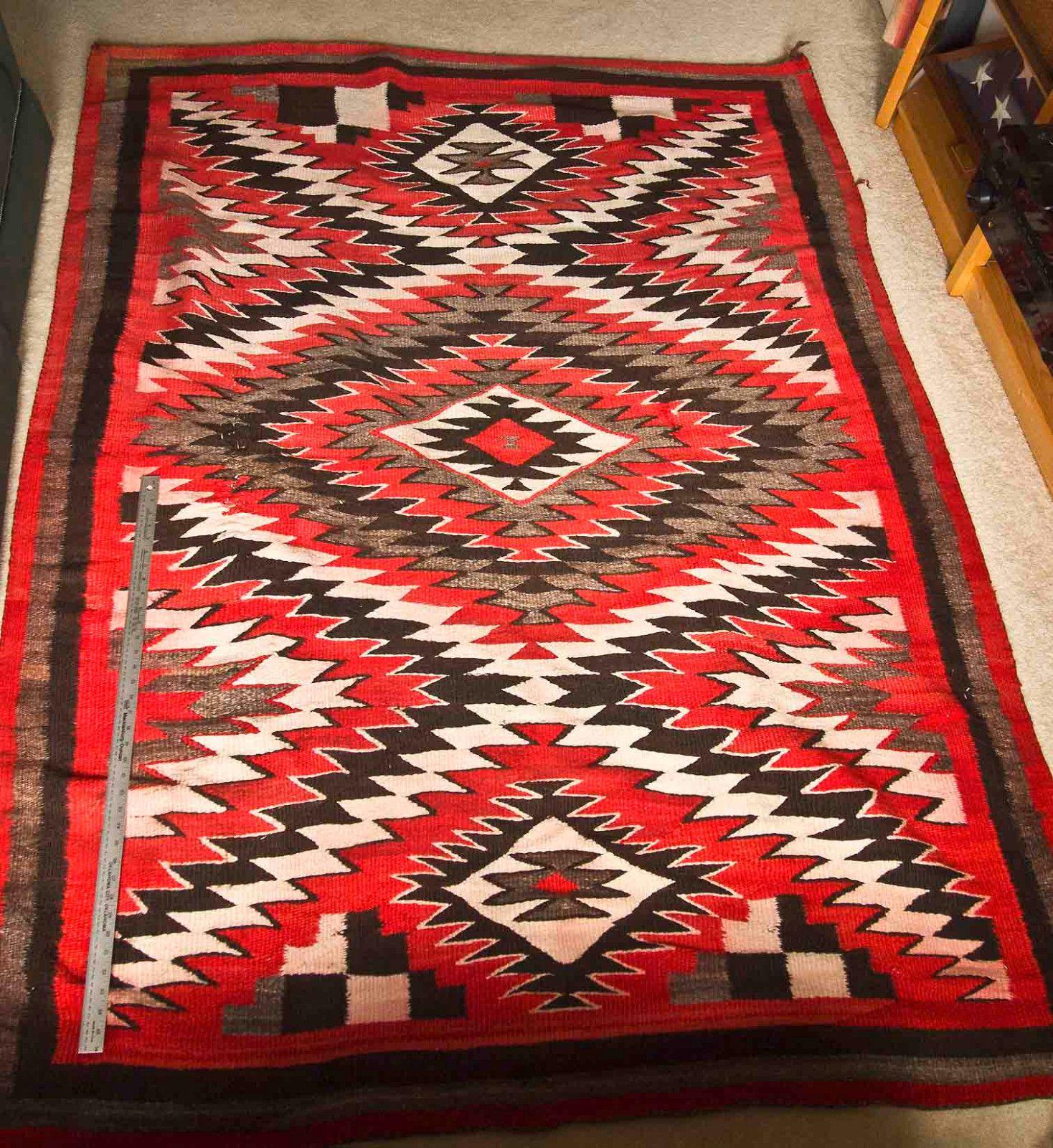 Vintage Large Navajo Rug Transitional Period 1868 1890 Ebay