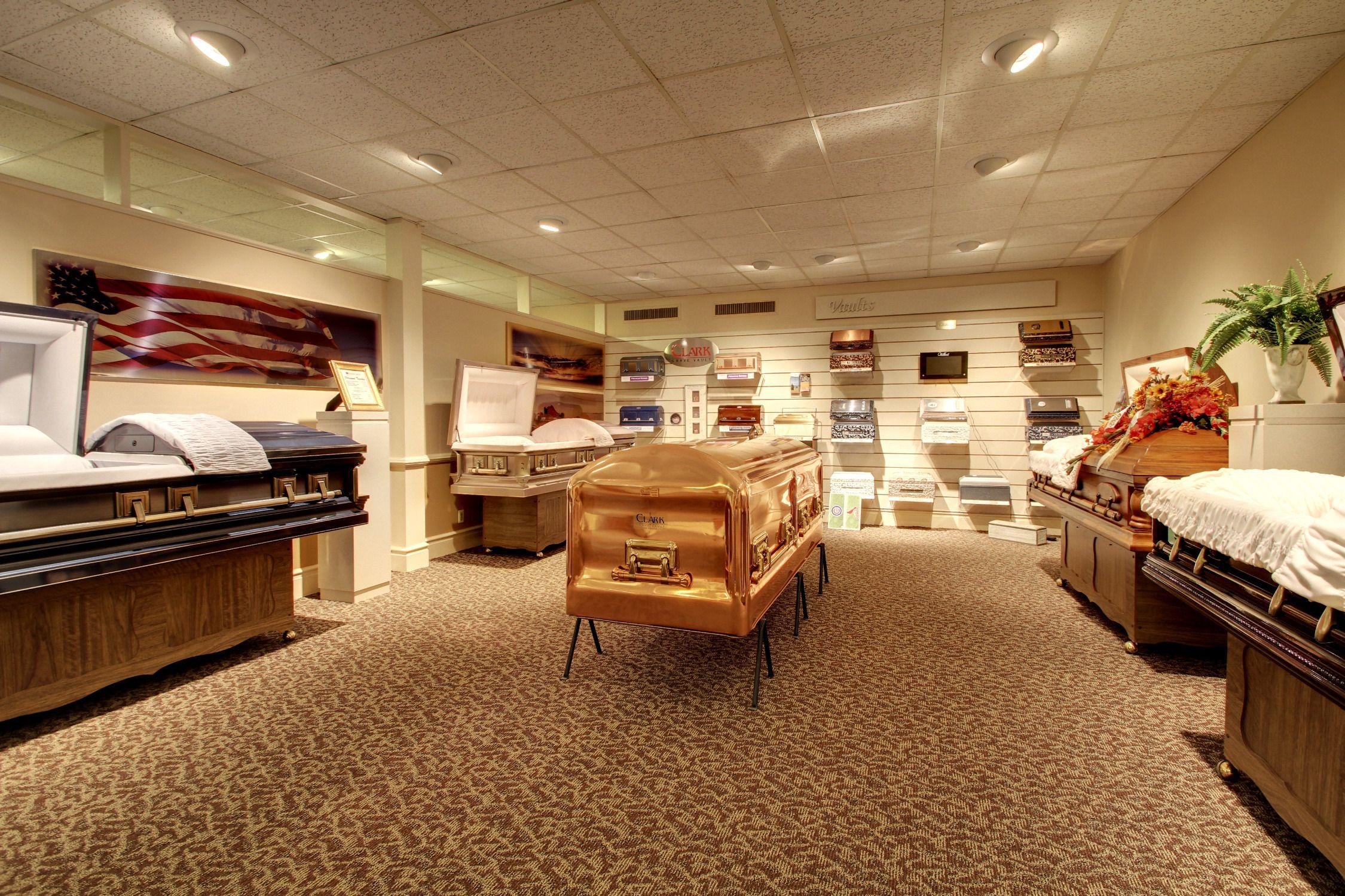 Funeral home casket selection room design Home room ideas