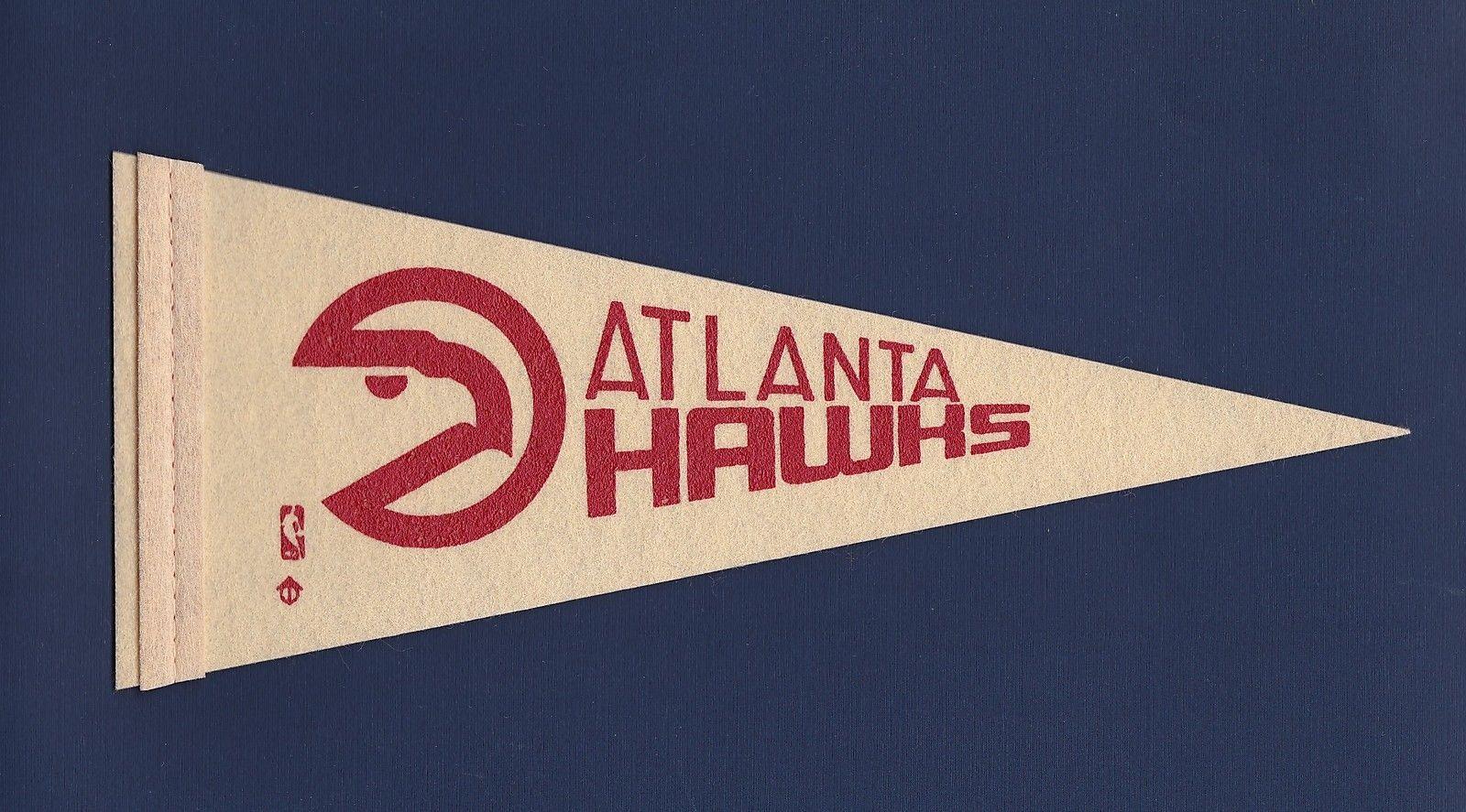 Details about atlanta hawks vintage 1970s mini felt