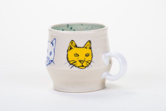 This ceramic mug is from a collaboration project with LA based ceramicist, Brandon Bateman. The glazing is by Lorien Stern and the mug shape was