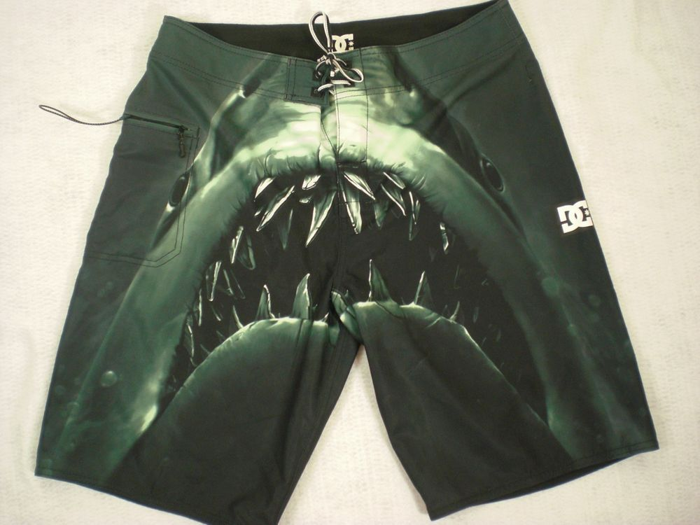 e64db98a72 Men s Jaws Shark Swim Trunks - Size 32  DCShoes  Trunks. Find this Pin and  more on Mens Clothing ...