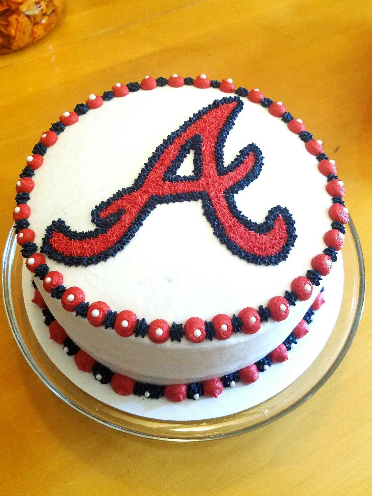 Atlanta Braves Cake Baseball Birthday Cakes For Mom Party