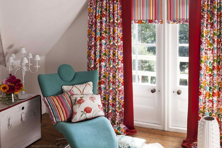Extremely Pretty Bright Bold And Colourful Flowers Patterned Curtains Curtains Prestigious Textiles Home