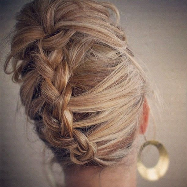 @Lyndsay Shubin Backward braid - i keep trying the braids i've pinned and i can't do any of them yet - i never had long enough hair growing up and I didn't have any girls - i might just have one of my friends come over and teach me =]