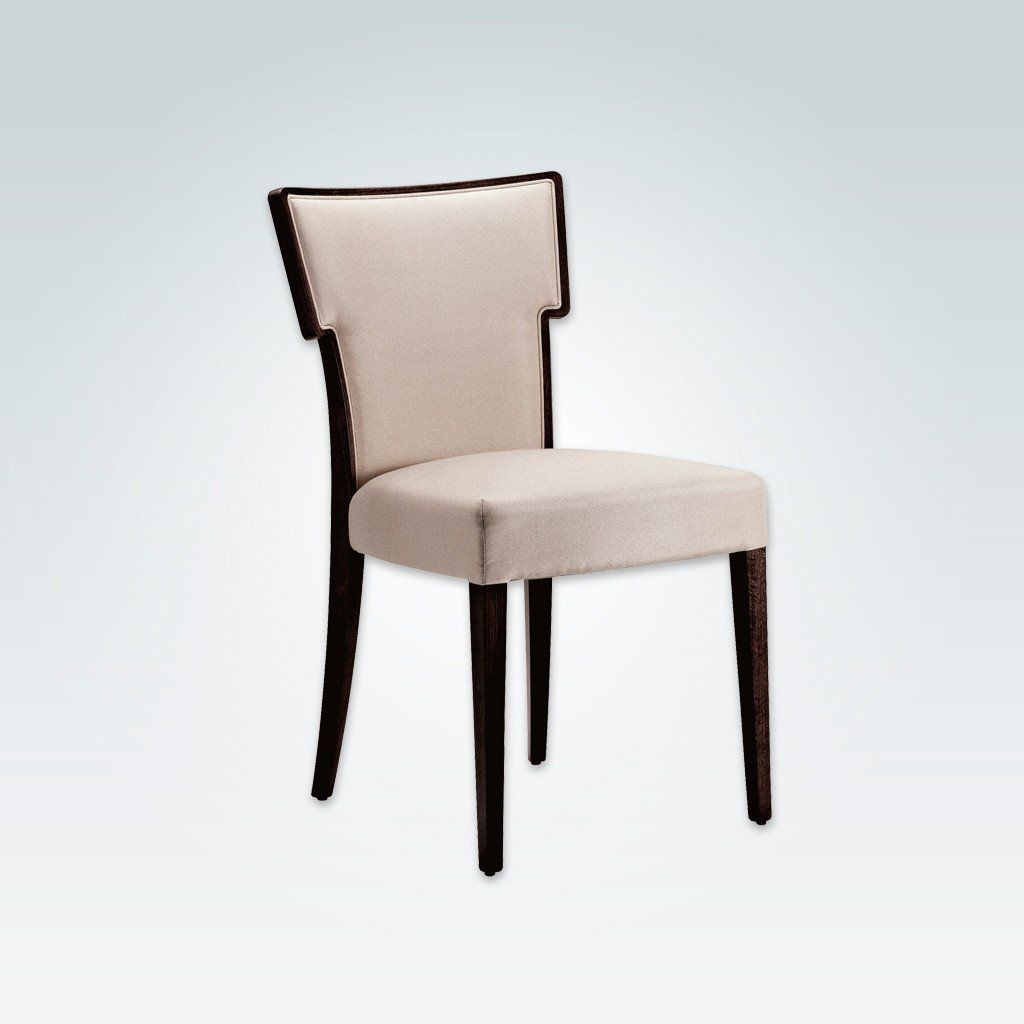 This Popular White High Back Dining Chair With Hammer Back Design