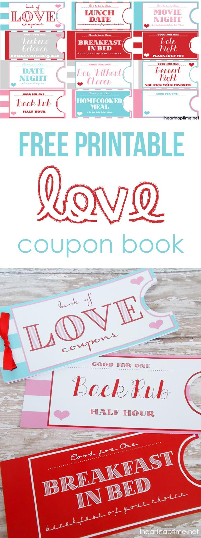 Printable Love Coupon Book The Perfect Valentine S Day Gift Love Coupons Coupon Book Valentines Diy